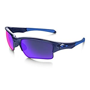 Oakley Quarter Jacket Non-Polarized Iridium Rectangular Sunglasses,Polished Navy,61 mm (Youth Fit)