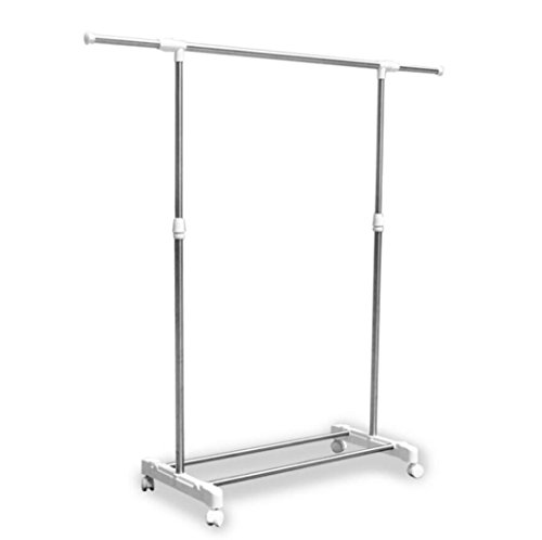 LyMei Stainless Steel Drying Rack Fold-able Rolling 4-Wheels