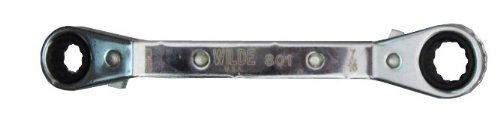 Wilde Tool 801 Offset Ratchet Box Wrench, 3/8 inch x 7/16 inch