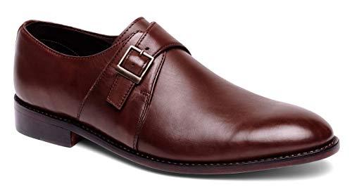 - Anthony Veer Roosevelt Men's Monk Strap Dress Shoe in Full Grain Leather Goodyear Welted Construction (10 D(M) US, Full Grain Calfskin Chocolate Brown)