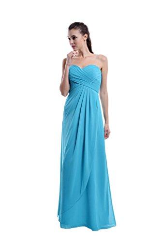 Ma Chérie Dressblee Longue Robe De Bal En Mousseline De Soie