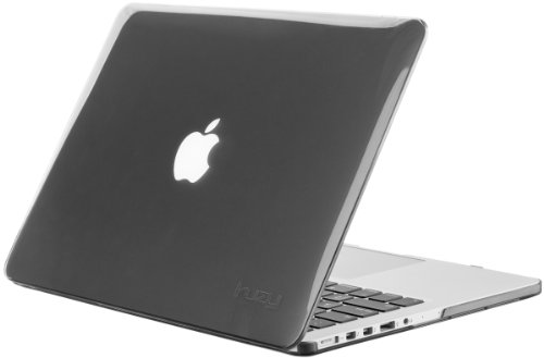 Kuzy - GRAY/SMOKE Crystal Hard Case Cover for Apple MacBook Pro 15.4