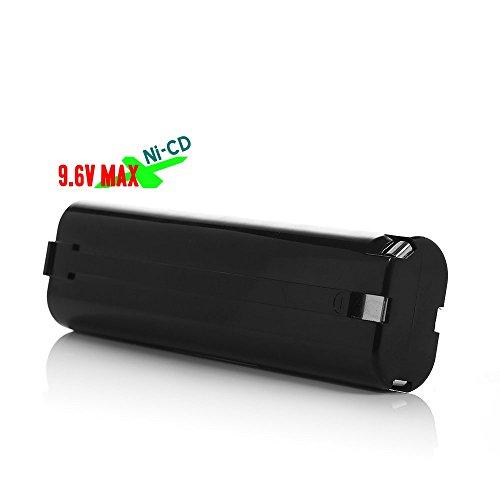 Battery Pack For Cordless Power Tool: Drill, Sanders, Screwdrivers : Makita 9000, 9001, 9002, 9003, 9033, 9600, 1916812, 1925330, 6320074, 192533-0, 632007-4, 191681-2, 632007-4 9.6V Ni-CD 1.5Ah Black