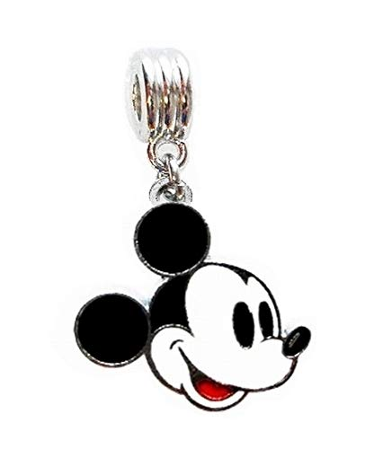 Mickey Mouse Charm - MICKEY MOUSE CHARM SLIDER PENDANT FOR YOUR NECKLACE EUROPEAN CHARM BRACELET (Fits Most Name Brands) DIY