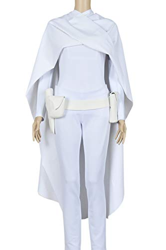 Star Wars 2 Attack of The Clones Cosplay Padme Amidala Costume Suits White