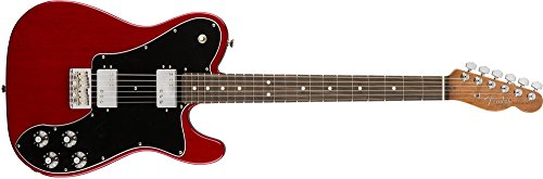 Fender Limited Edition American Professional Mahogany Telecaster Deluxe Shawbucker Transparent Crimson Red ()