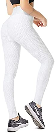 Vozobi Msicyness TIKTOK Leggings Women's High Waist Yoga Pants Butt Lift Tights Textured Scrunch B