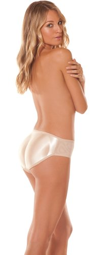 Bubbles Bodywear Caboost Midrise Padded Panty Nude Small