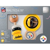 Pittsburgh Steelers Wooden Baby Rattle Set from SteelerMania