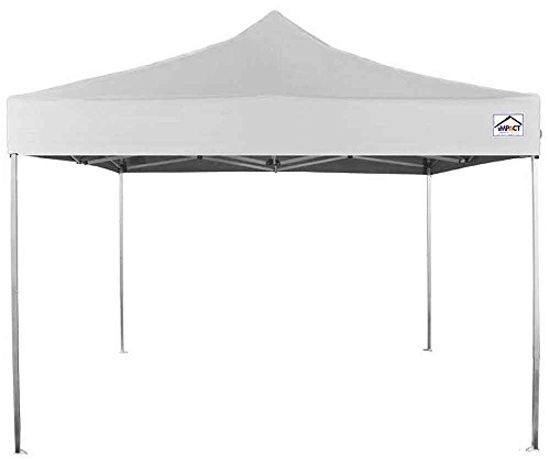 Impact Canopy 10' x 10' Pop-Up Canopy Tent, UV-Coated Straight-Leg Shelter with Ultra-Light Aluminum Frame, White
