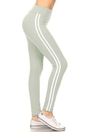 Leggings Depot Higher Waist Women's Buttery Soft Solid Leggings