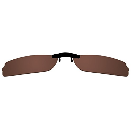 Custom Polarized Clip on Sunglasses For Oakley HALFSHOCK OX3119 55x19 3119 - Clip Custom On