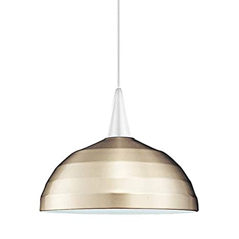 WAC Lighting PLD F4 404BN/WT Felis 1 Light Canopy Pendant, Halogen Lamp  Brushed Nickel/White   Ceiling Pendant Fixtures   Amazon.com