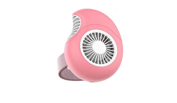 Color : Pink XIAOF-FEN Portable Fan Rechargeable USB Air Cooling Fan Small Desk Fan USB Fan