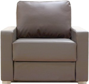 Awesome Alda Flat Pack Armchair Faux Leather Espresso Fabric Machost Co Dining Chair Design Ideas Machostcouk