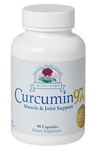 Ayush Herbs Herbal Supplement, Curcumin 97%, 90 Count