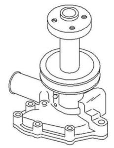 New Water Pump SBA145016540 Fits FD 1910, 2110, 2120 by Ford / Ford New Holland