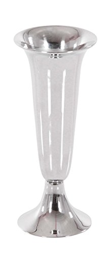 Deco 79 90937 Decorative Inverted Bell Aluminum Vase, 10