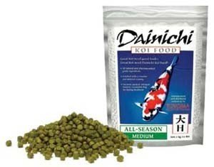 CalPonds Freshly Milled Dainichi All-Season Koi Fish Food for Ponds - 22 lbs. (Medium Pellet) by Dainichi