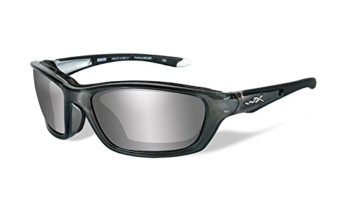 Wiley X Brick Sunglasses, Silver Flash, Crystal - Eye Surgery Sunglasses Laser