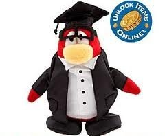 Figure Series Plush - Disney Club Penguin 6.5 Inch Series 8 Plush Figure Graduate Includes Coin with Code!