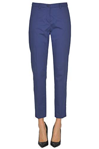 Algodon Mcglpnc000005024e Pantalón Seventy Mujer Azul UtwxR5q