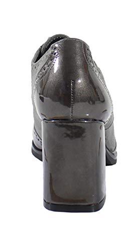 By Daim Shoes Style Bi Cuir Derbies Montante Grey Femme Effet Matière Et ggUrqY