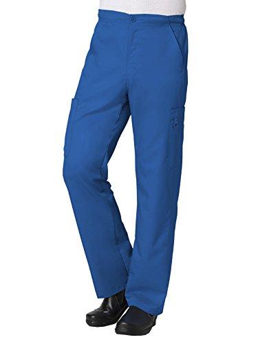 Maevn Uniforms Eon Men's Coolmax Half-Elastic Drawstring Waist Cargo Scrub Pant Large Petite Royal ()
