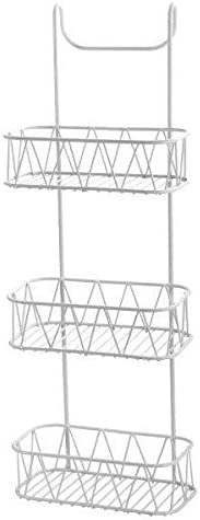 New 3 Tier White Over Shower Screen Caddy Hanging Bathroom Organiser Shower Rack Storage Tidy
