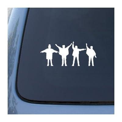 The Beatles Silhouettes - Car, Truck, Notebook, Vinyl Decal Sticker #2470 | Vinyl Color: White: Automotive