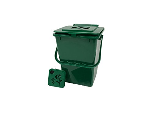 Exaco ECO-2000 2.4 Gallon Kitchen Compost Waste Collector - Compost Plastic Composter