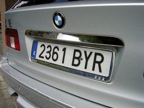Sumex Branded Car License Number Plate Frame Holder (ABS Plastic Chrome (Quattro)) & Sumex Branded Car License Number Plate Frame Holder (ABS Plastic ...
