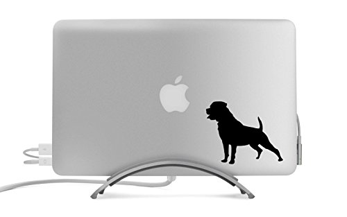 Rottweiler Dog Silhouette Five Inch Black Decal for Car, Truck, MacBook, Laptop, Etc.