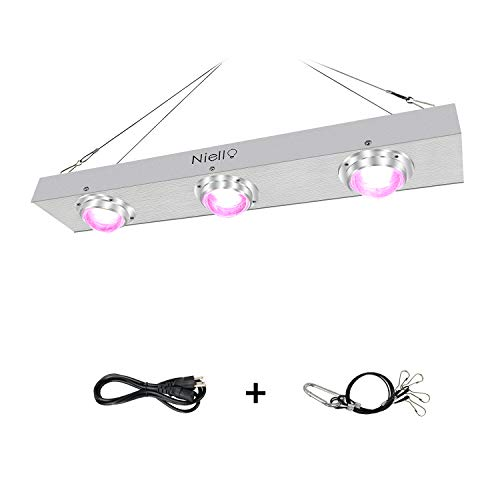 $139.99 COB LED Grow Light, Niello 600W Full Spectrum Light Grow for Indoor Plants, Cooling Stronger Heat Dissipation Without Noise LED Plant Lamp for Hydroponics Greenhouse Indoor Plant Veg and Flower System 2019