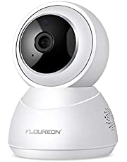 FLOUREON YI Cloud Wireless Camera 1080P HD WiFi IP Dome Camera Pan/Tilt Indoor Surveillance Baby Monitor with Smart Tracking Night Vision Two Way Audio for Home Security Pet