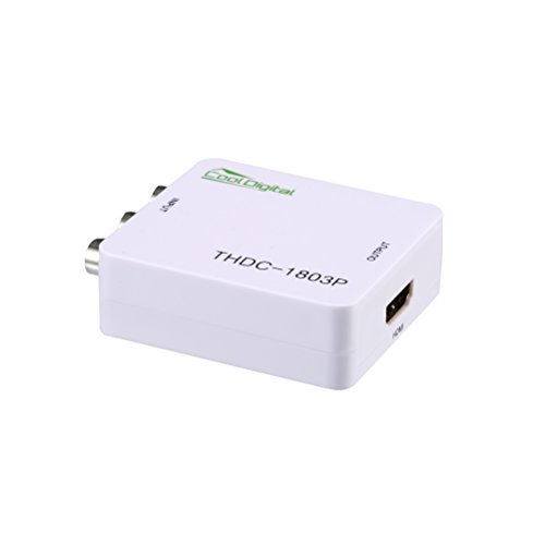 AV to HDMI Converter CoolDigital 3RCA CVBS Composite to HDMI video audio Adapter Support PAL/NTSC (Converter Cube To Game Wii)