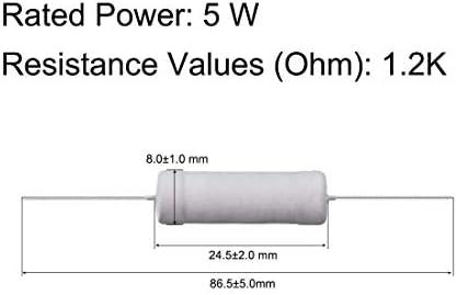 5 W 1.2 Ohm Resistencias de película de óxido de metal 5 W 700 V 10 piezas
