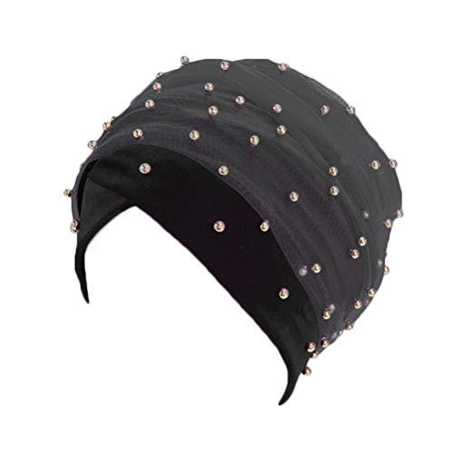 NACOLA Beaded Long Mesh Velvet Turban Head Wrap Nigerian Turban Head Scarf Women Africa Hijab
