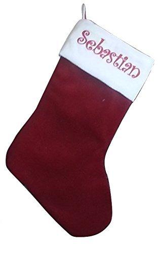 traditional heirloom velvet christmas stockings large stockings christmas decor santa boot embroidered - Red Velvet Christmas Stockings
