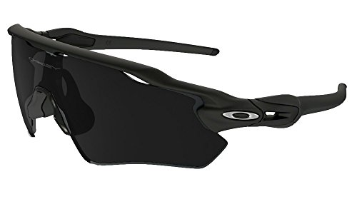Oakley Men's Radar Shield Sunglasses (Matte Black Frame Extended View Solid Black...
