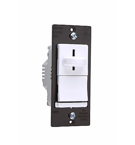 TradeMaster 600W Decorator Slide Dimmer Three Way Preset in White