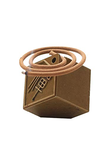 PHILOGOD Pure Copper Cube Incense Burner, Zen Personality Creative Ornaments