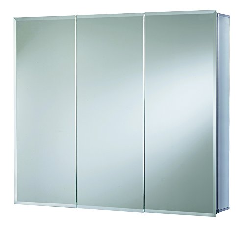 Croydex Westbourne 30-Inch x 36-Inch Triple Door Tri-View Cabinet with Hang 'N' Lock Fitting System by Croydex