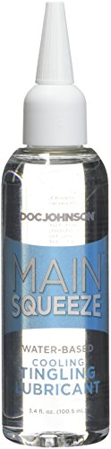 Doc Johnson Main Squeeze - Cooling Tingling Water-Based Lubricant - Percision Nozzle for Targeted Application