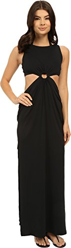 Calvin Klein Women's Draped Solids Open Back Cover-Up Dress Black X-Small by Calvin Klein