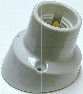 ANGL E27 ES Porcelain ANGLE Batten Lamp Holder
