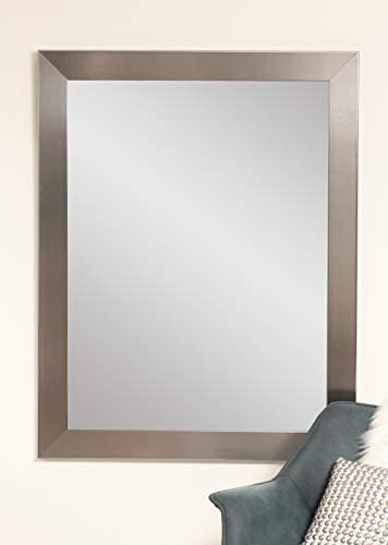 BrandtWorks Modern Wall Mirror, 32 x 50 , Silver