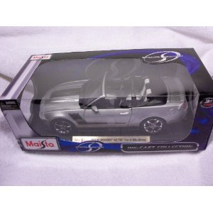 Maisto 1:18 Scale Silver 2010 Roush 427R Ford Mustang (convertible) (Roush Mustang Convertible)