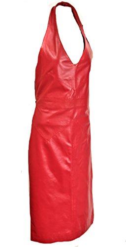 Monaco Be Lederkleid aus in Noble rückenfrei ECHT Leder rot xqwgqB