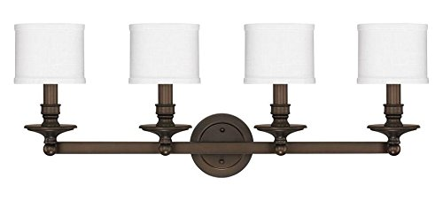 Burnished Bronze 4 Light 35in. Wide Bathroom Vanity Light from The Midtown Collection